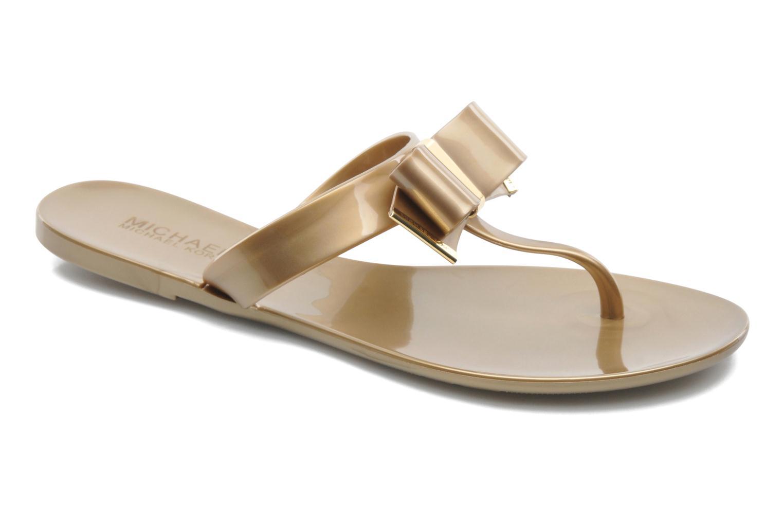 Flip flops Michael Michael Kors Kayden Jelly Bronze and Gold detailed view/ Pair view