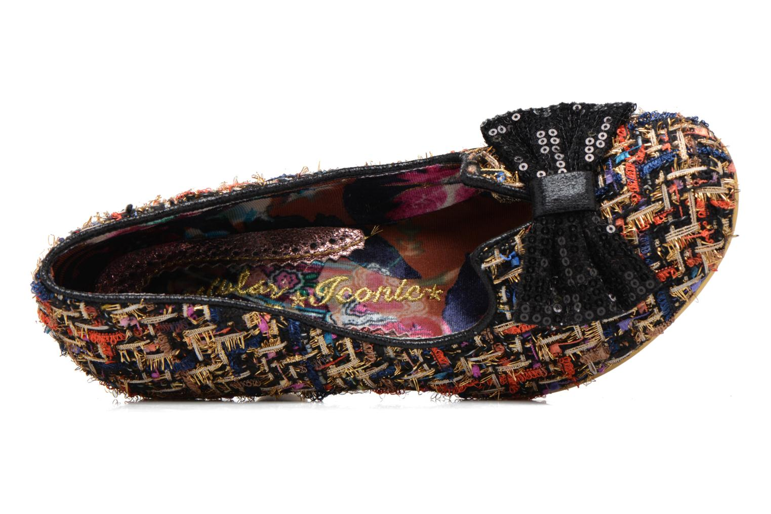 High heels Irregular choice Dazzle Razzle Black view from the left