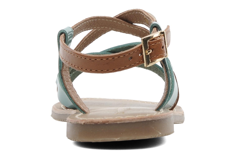 Sandales et nu-pieds Les Tropéziennes par M Belarbi Yogi E Bleu vue droite