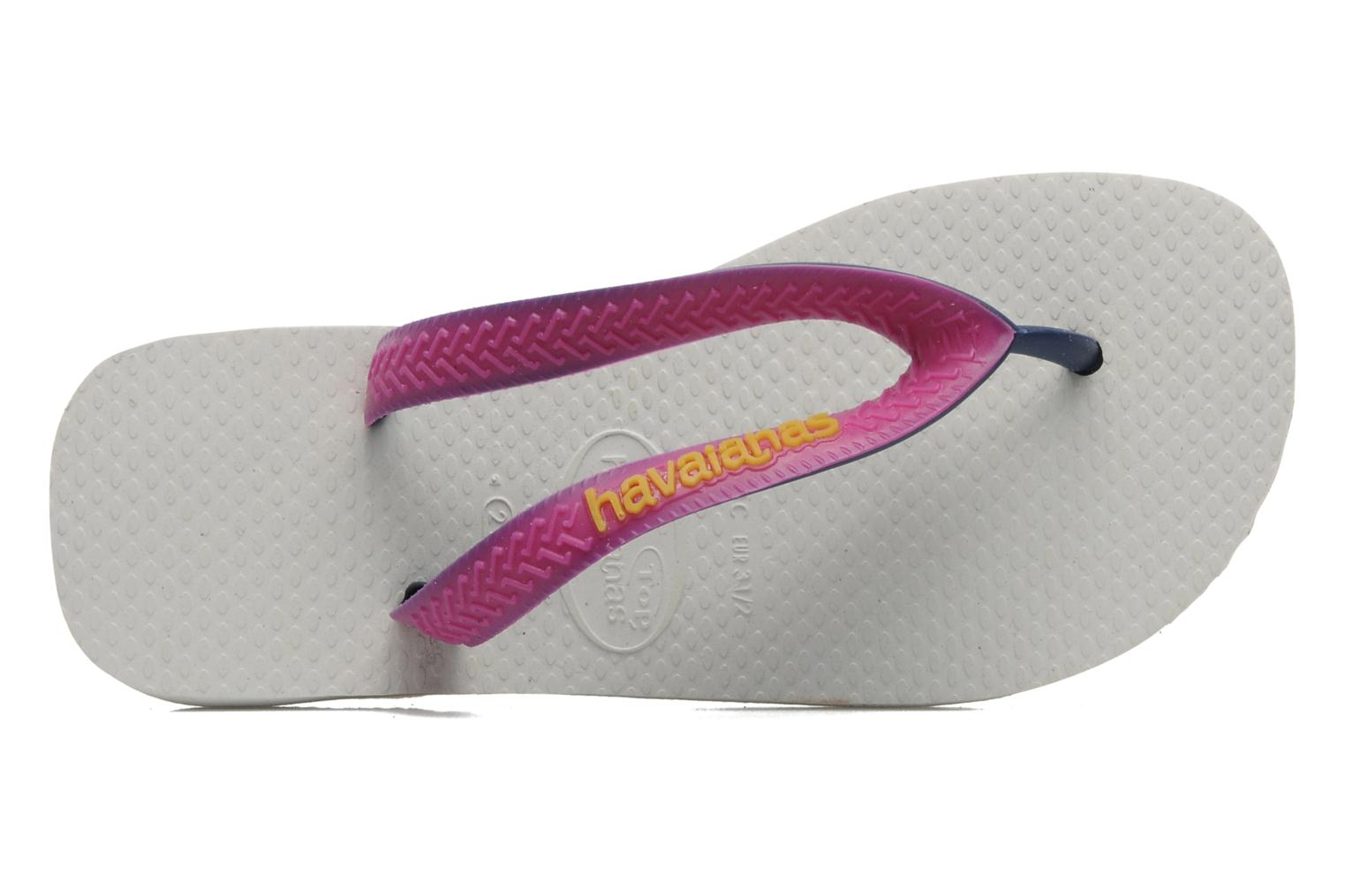 Tongs Havaianas Top Mix Blanc vue gauche