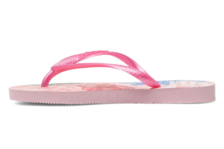Zehensandalen Havaianas Slim Princess rosa ansicht von vorne