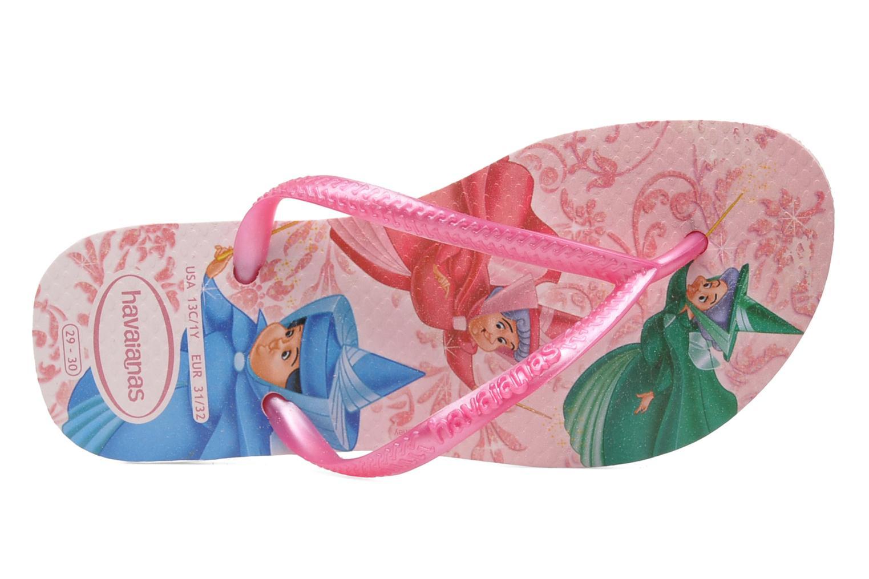 Zehensandalen Havaianas Slim Princess rosa ansicht von links