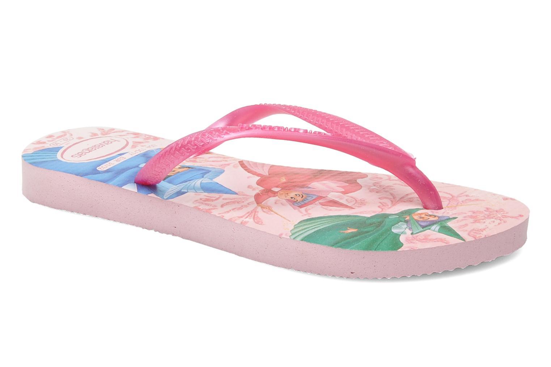 Zehensandalen Havaianas Slim Princess rosa detaillierte ansicht/modell