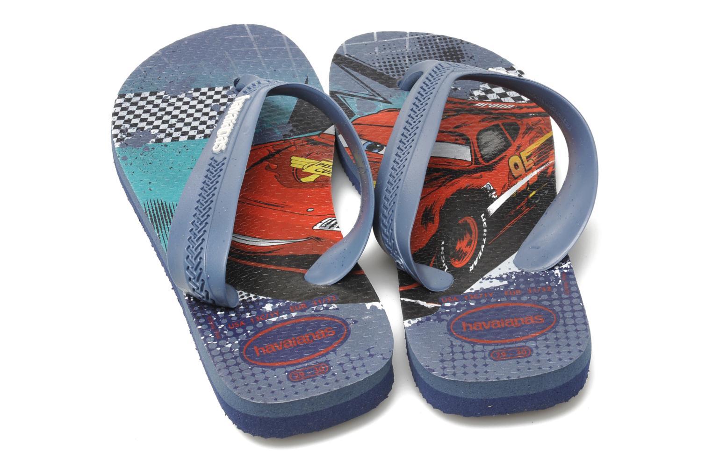 Flip flops Havaianas Kids Max Cars Blue 3/4 view