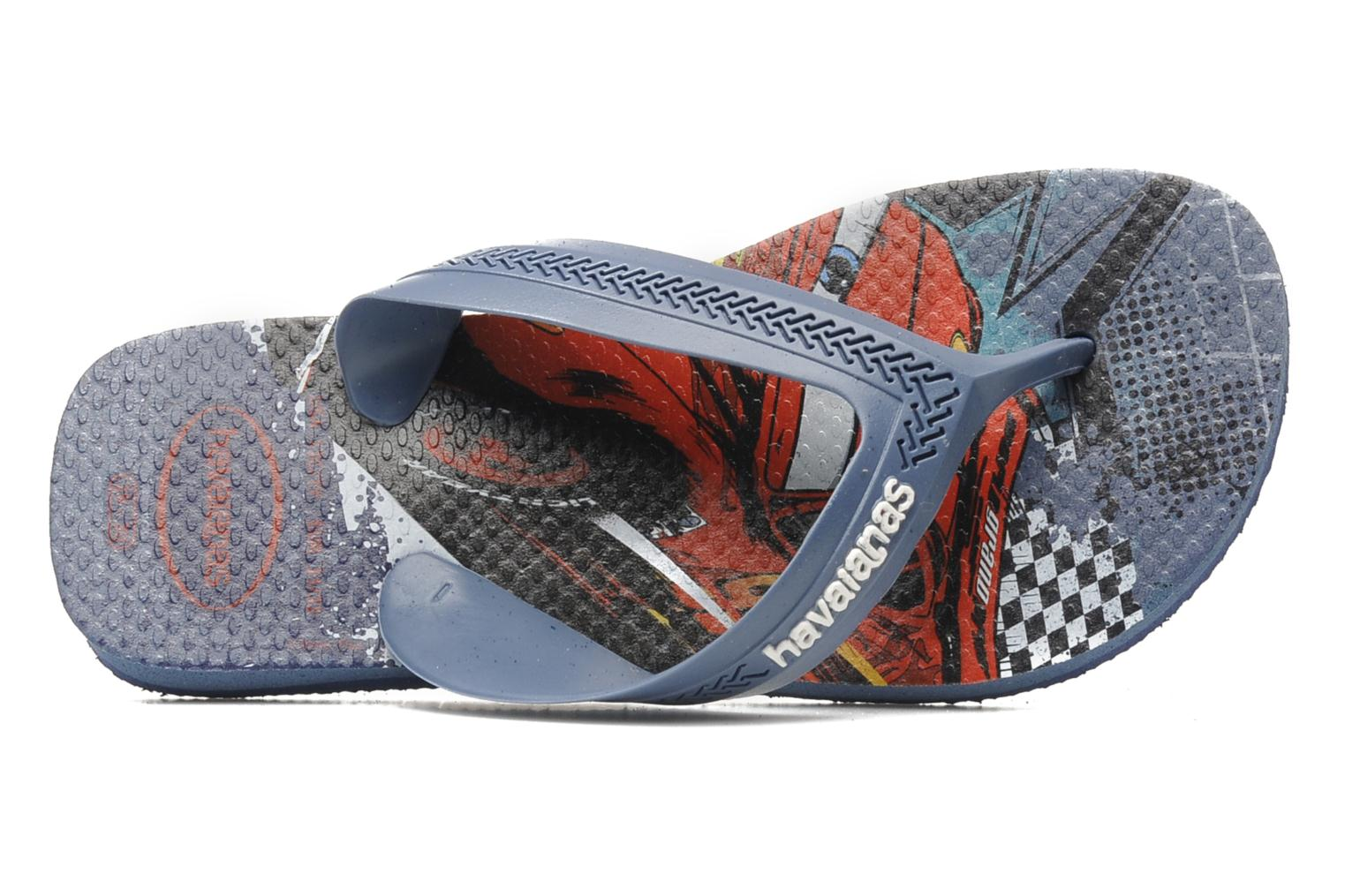 Flip flops Havaianas Kids Max Cars Blue view from the left