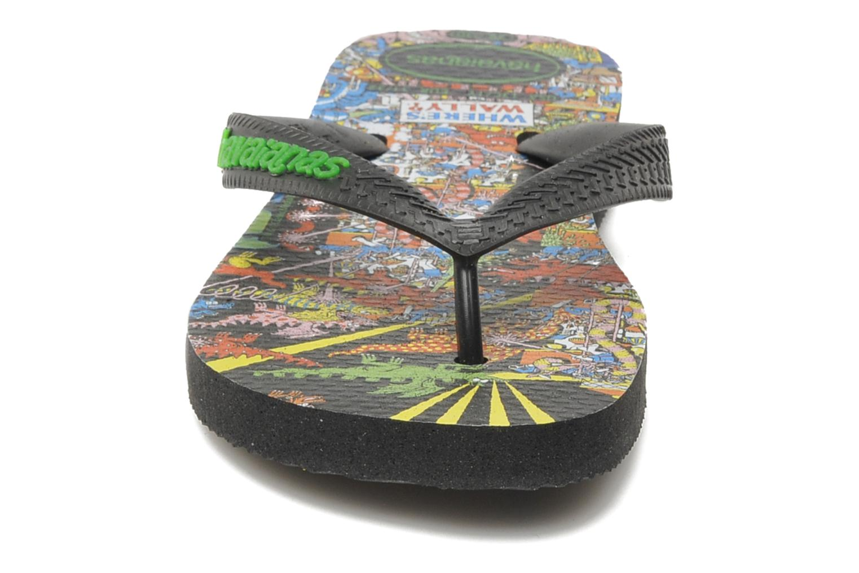 Tongs Havaianas Ou Est Charlie Noir vue portées chaussures