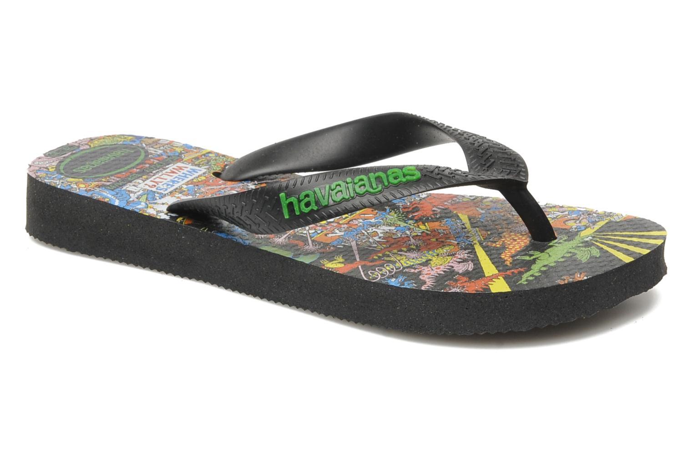 Zehensandalen Havaianas Ou Est Charlie schwarz detaillierte ansicht/modell