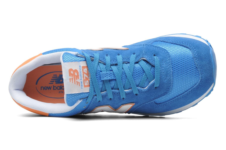 Baskets New Balance WL574CPT-B Bleu vue gauche