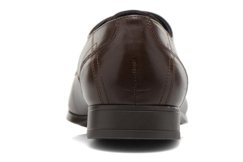 Zapatos con cordones Azzaro Anglin Marrón vista lateral derecha