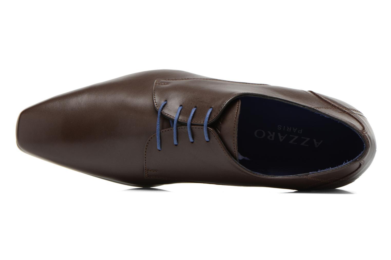 Zapatos con cordones Azzaro Anglin Marrón vista lateral izquierda