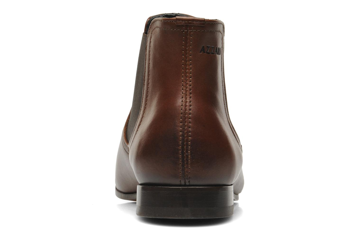 Ankle boots Azzaro Item Brown view from the right