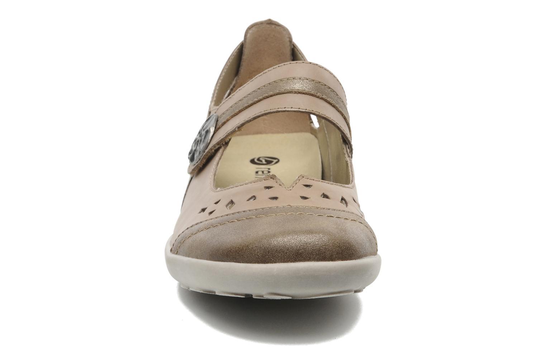 Ballerines Remonte Putholi R1704 Beige vue portées chaussures