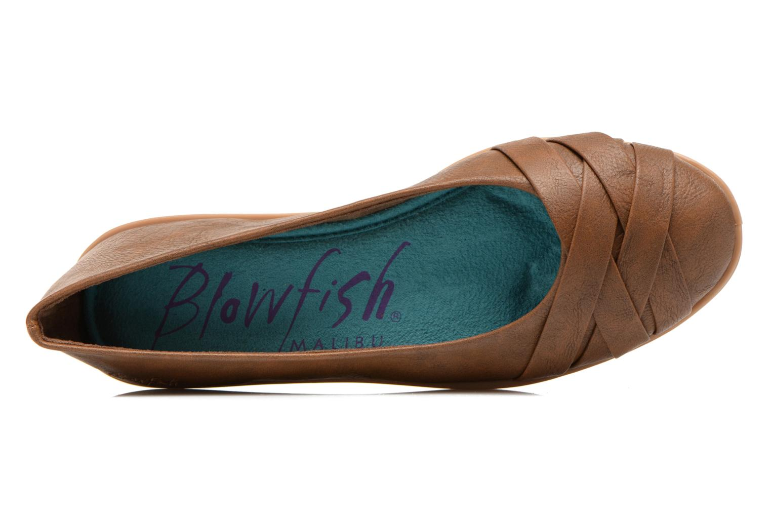 Ballet pumps Blowfish Glo Brown view from the left