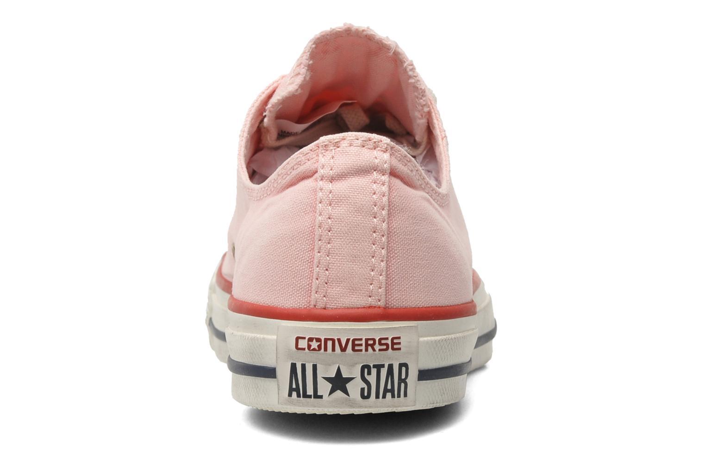 Sneaker Converse Chuck Taylor All Star Well Worn Ox W rosa ansicht von rechts