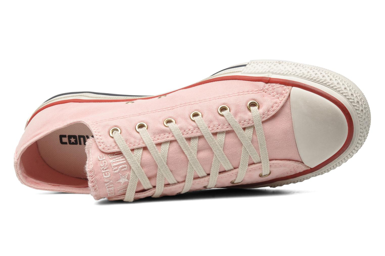 Sneaker Converse Chuck Taylor All Star Well Worn Ox W rosa ansicht von links