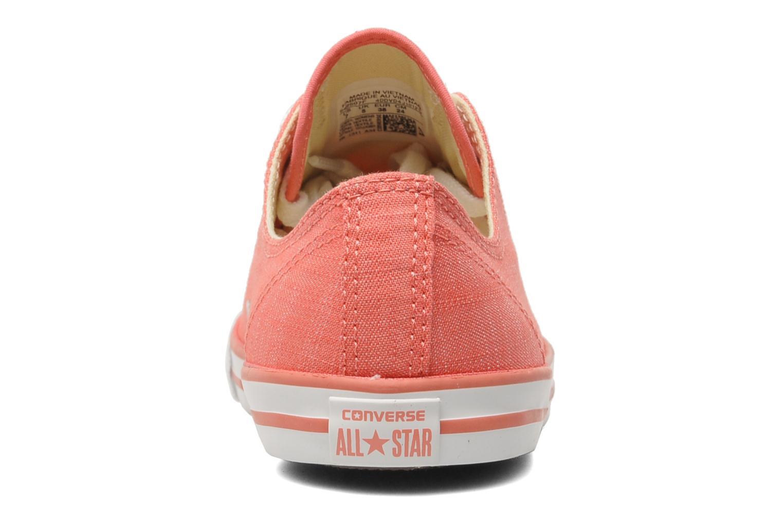 Sneaker Converse All Star Dainty Denim Ox W rosa ansicht von rechts