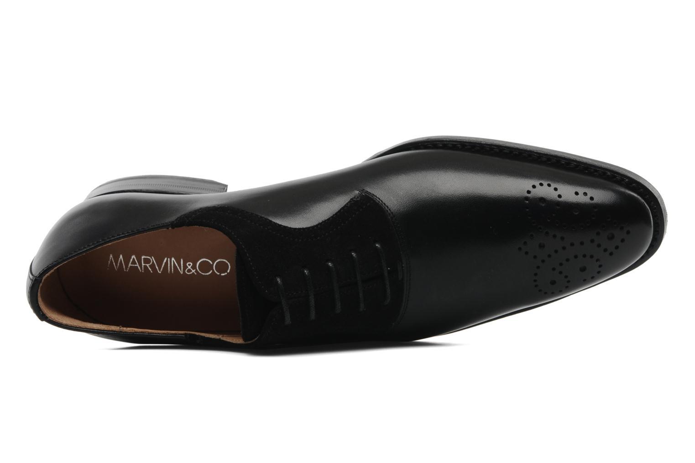 Snörade skor Marvin&Co Luxe Walburg - Cousu Goodyear Svart bild från vänster sidan