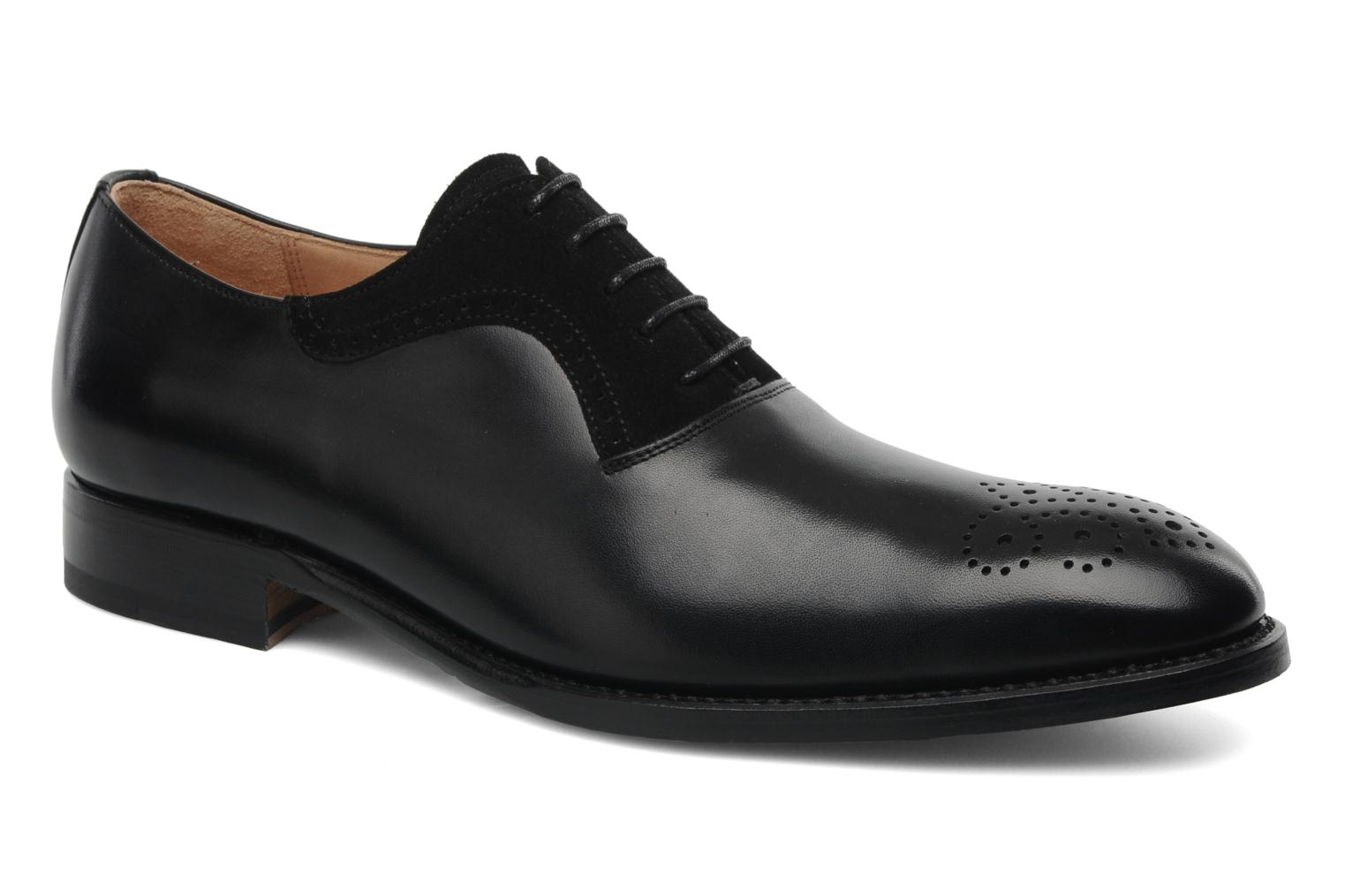 Lace-up shoes Marvin&Co Luxe Walburg Black detailed view/ Pair view