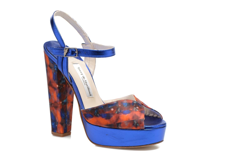 Sandaler Terry de Havilland Coco Blå detaljeret billede af skoene