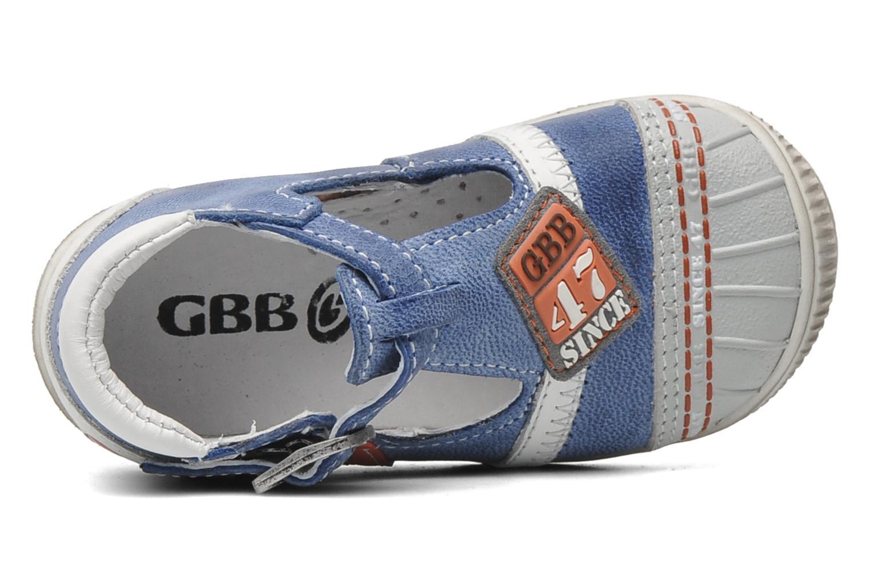 Sandalias GBB GABRIEL Azul vista lateral izquierda