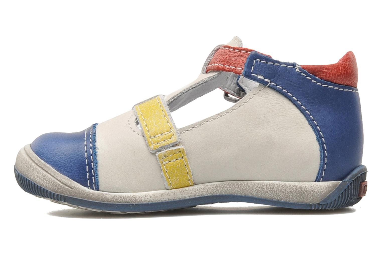 Sandales et nu-pieds GBB GEO Gris vue face