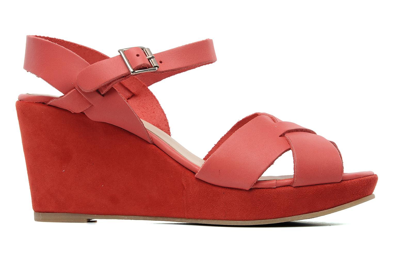 Sandale Compensée Rouge