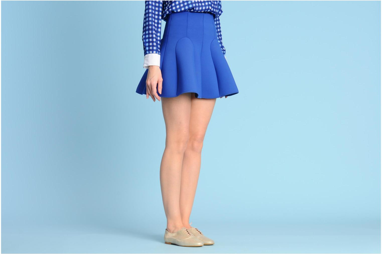 Schnürschuhe Georgia Rose Fastoche braun ansicht von unten / tasche getragen
