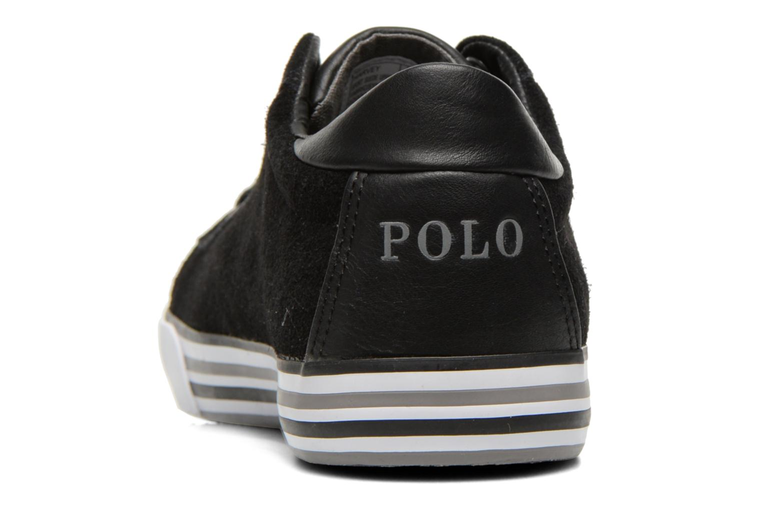 Trainers Polo Ralph Lauren Harvey Black view from the right