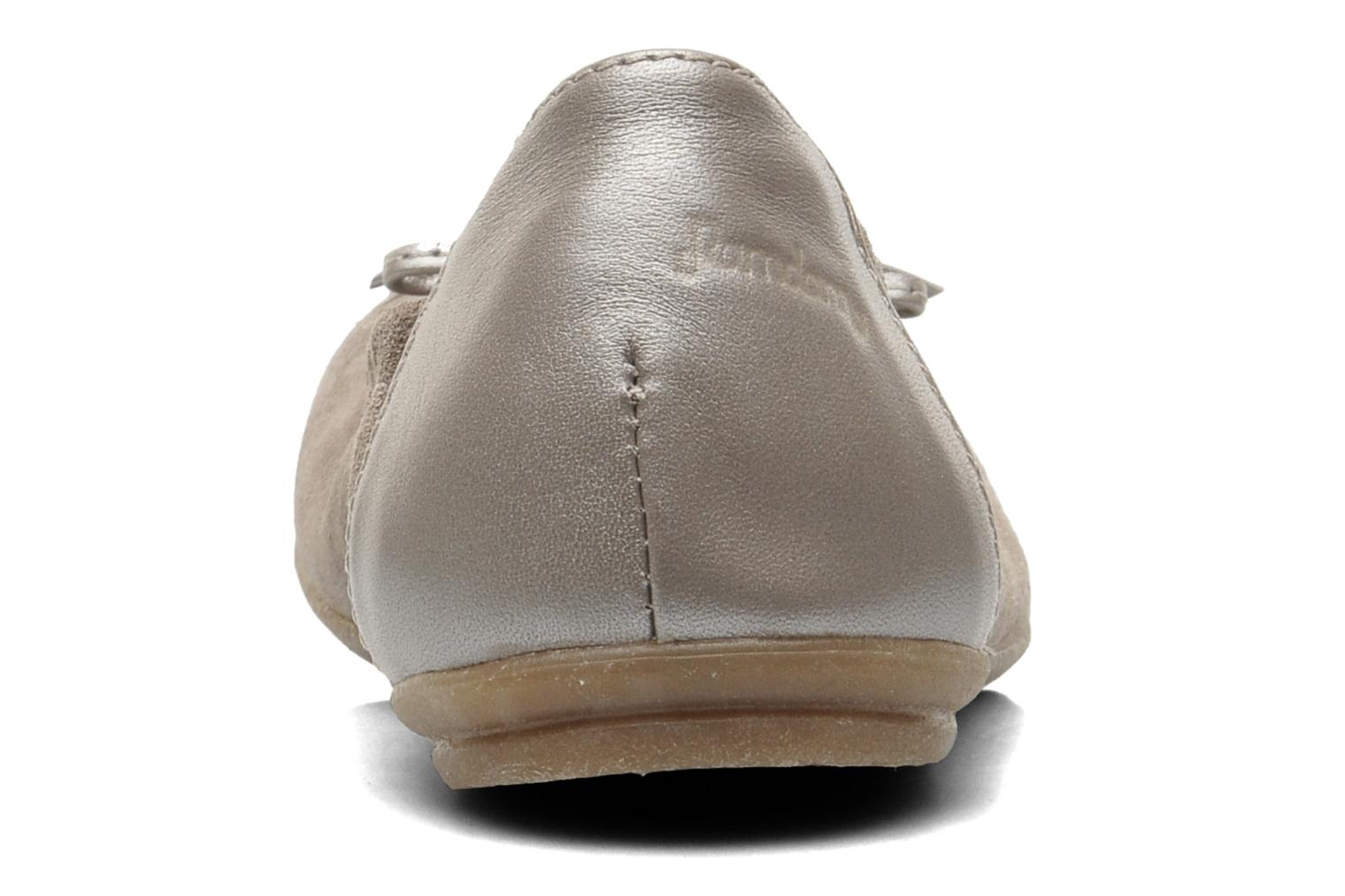 Ballet pumps Ramdam by GBB LISBONNE Grey view from the right