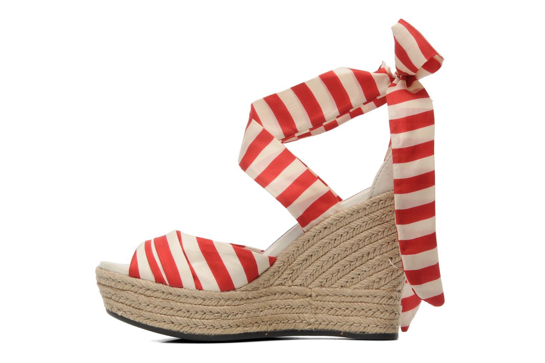 Sandales et nu-pieds UGG Lucianna Stripe Rouge vue face