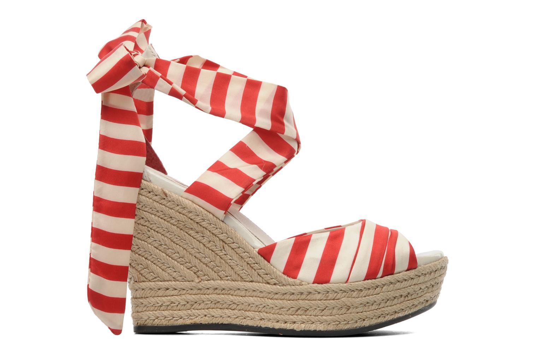 Sandales et nu-pieds UGG Lucianna Stripe Rouge vue derrière