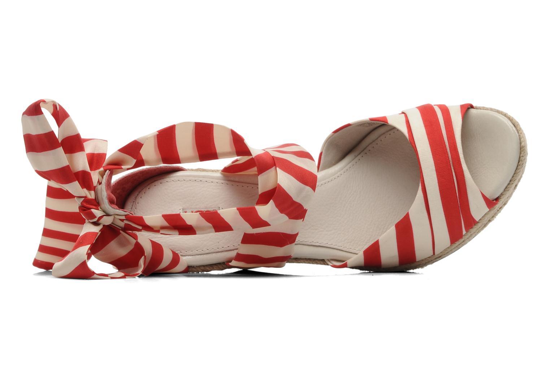 Sandales et nu-pieds UGG Lucianna Stripe Rouge vue gauche