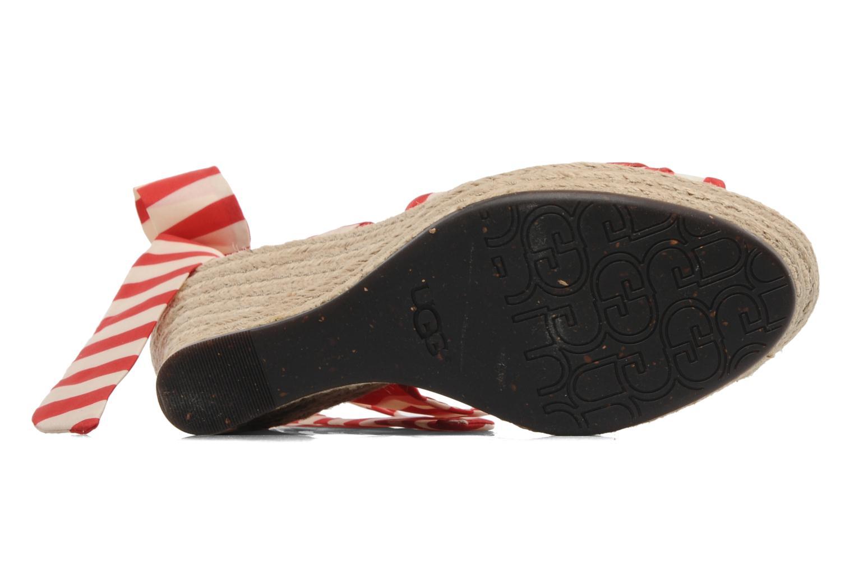 Sandales et nu-pieds UGG Lucianna Stripe Rouge vue haut