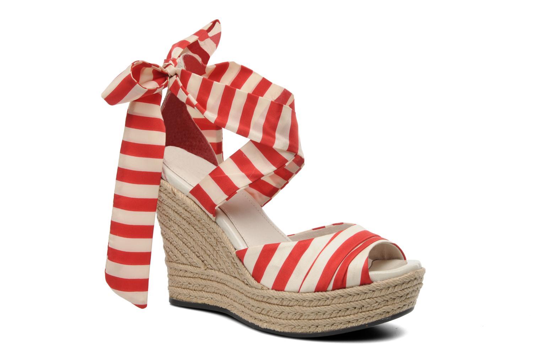 Sandales et nu-pieds UGG Lucianna Stripe Rouge vue détail/paire