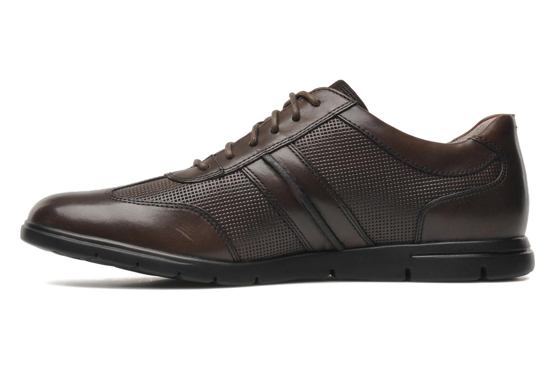 Chaussures à lacets Clarks Denner Race Marron vue face