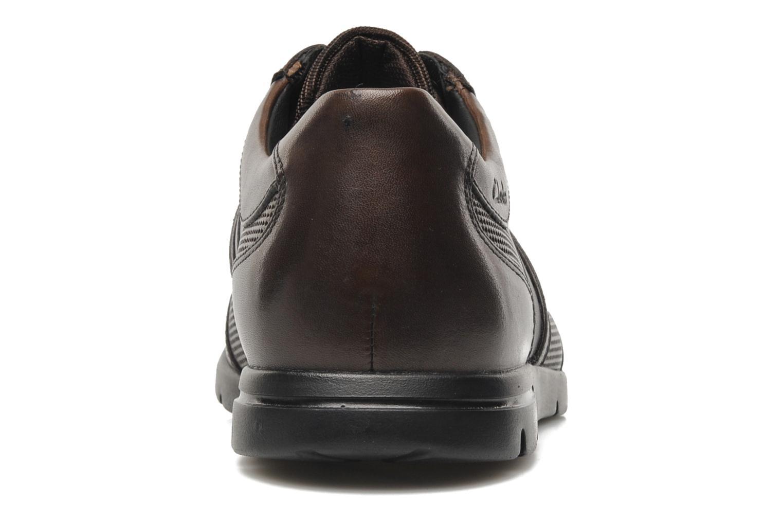 Chaussures à lacets Clarks Denner Race Marron vue droite
