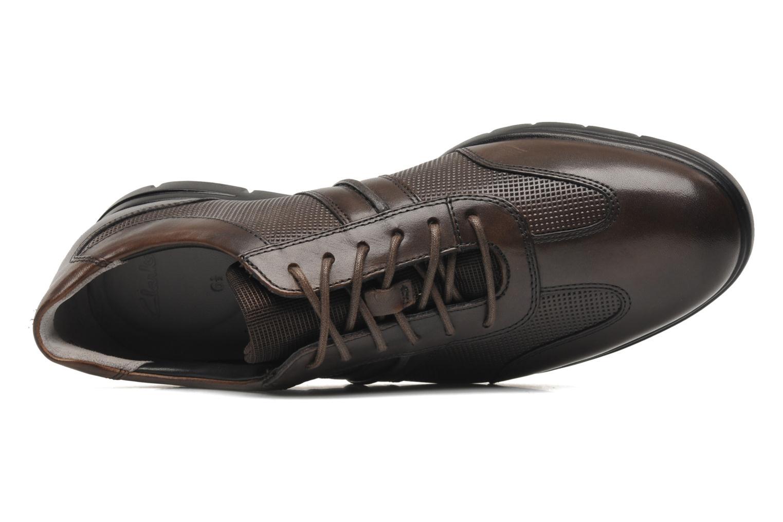 Chaussures à lacets Clarks Denner Race Marron vue gauche