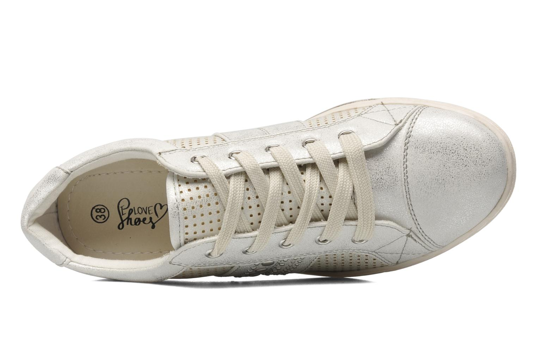 Baskets I Love Shoes Suaimes Argent vue gauche