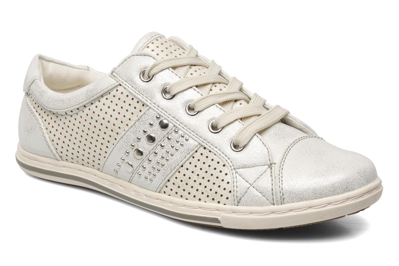 Baskets I Love Shoes Suaimes Argent vue détail/paire