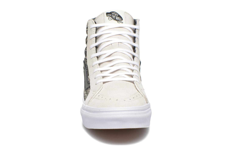 Baskets Vans Sk8-Hi Slim W Beige vue portées chaussures