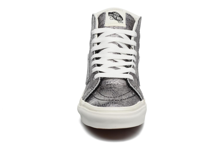 Baskets Vans Sk8-Hi Slim W Argent vue portées chaussures