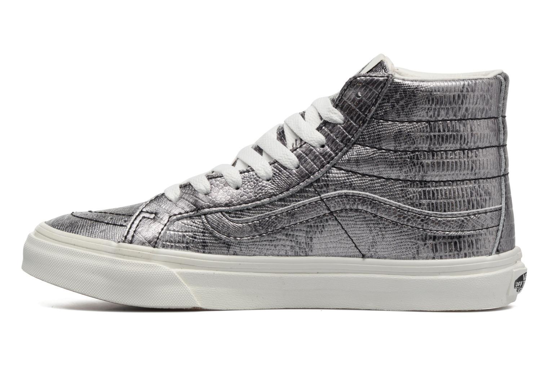 Sneaker Vans Sk8-Hi Slim W silber ansicht von vorne
