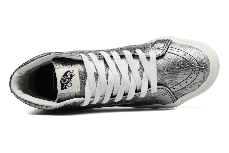 Sneaker Vans Sk8-Hi Slim W silber ansicht von links
