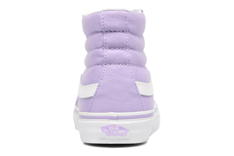 Sneaker Vans Sk8-Hi Slim W lila ansicht von rechts