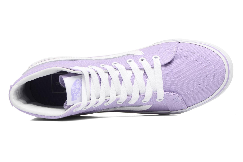 Sneakers Vans Sk8-Hi Slim W Viola immagine sinistra