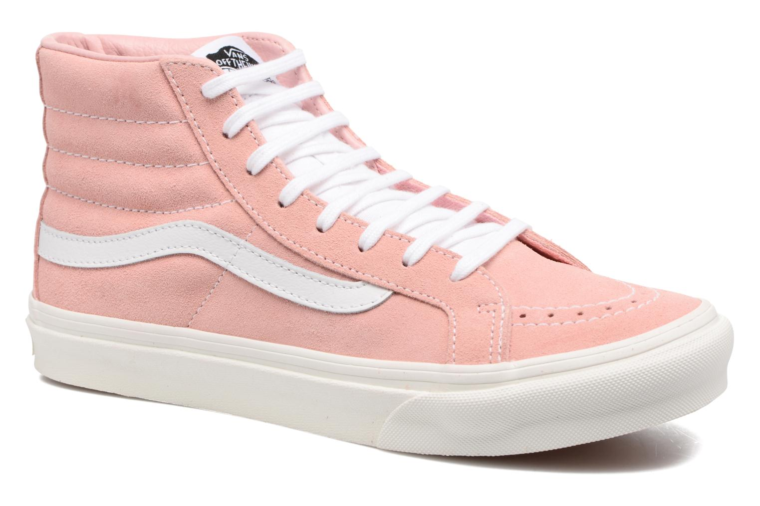 Vans Sk8-Hi Slim W (Rose) - Baskets chez Sarenza (302069)