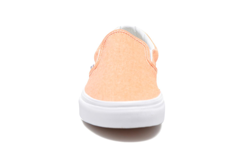 Baskets Vans Classic Slip-On W Orange vue portées chaussures