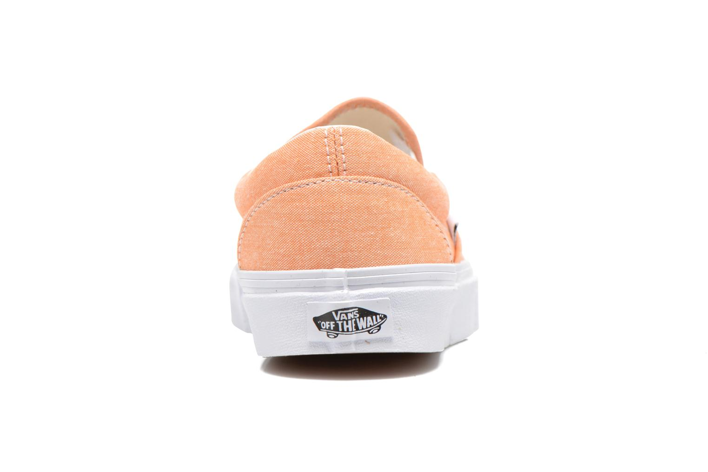 Baskets Vans Classic Slip-On W Orange vue droite