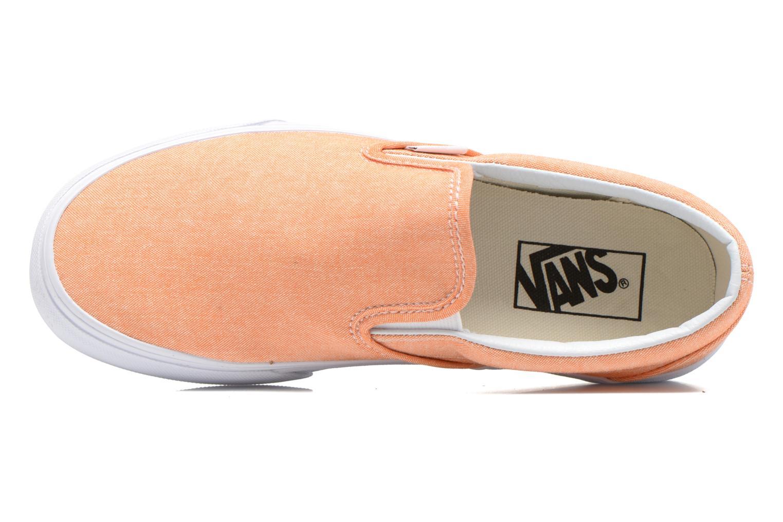 Sneaker Vans Classic Slip-On W orange ansicht von links