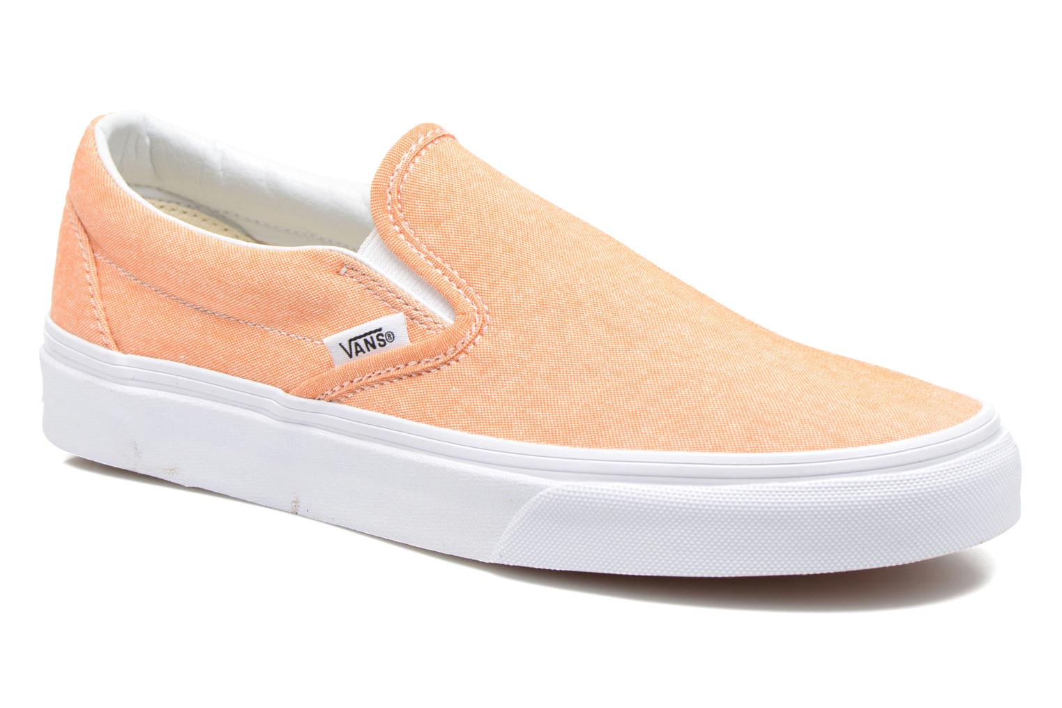 Classic Slip-On W (Chambray) coral/true white